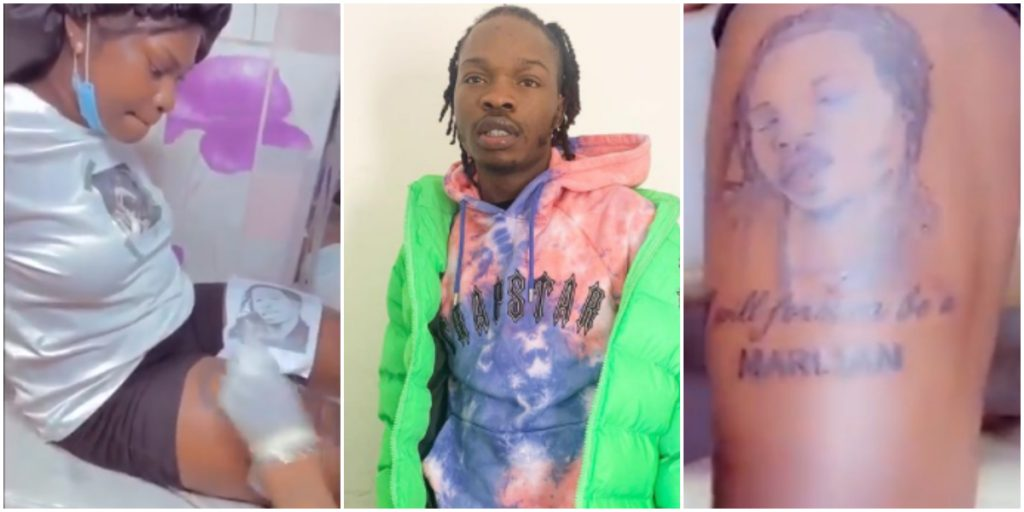 4 Nigerian Celebrities Whose Fans Have Honoured With Tattoos - Naira Marley