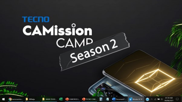 TECNO CaMission Reality Show sets to premier on Africa Magic Urban