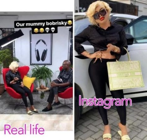 Bobrisky in Real Life Versus On Instagram, See The Difference (Photos)