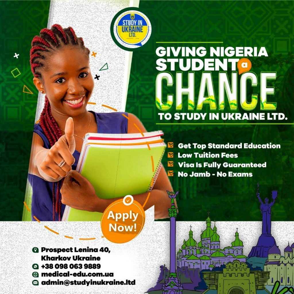 As a Nigerian, you can study in Ukraine without stress - 100% Visa Free