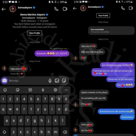 """Boma was also retaliated against by the lady, who mocked him for having an affair with married housemate Tega and dragged him for being romantic with her.  Reacting to the entire drama, one of Boma's fan identified as Supphurofficial wrote;  """"Even married cheating couple dey troll Boma. I love his energy"""".  See Screenshots below;"""