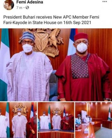 Femi Fani Kayode Joins APC after Saying He Would Rather Die Than Join The Party